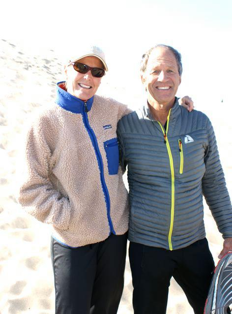 Lisa Smith-Batchen and Marshall Ulrich at the 2012 Dreamchasers Running Camp